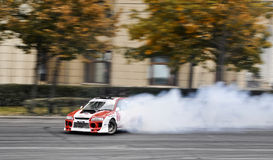 Drifting Subaru Royalty Free Stock Image