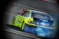 Drifting tuning car Royalty Free Stock Photography