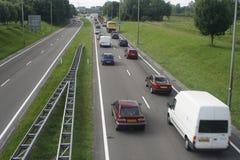 driftstopp ett sid trafik Arkivfoto