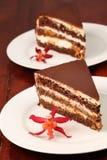 driftstopp för choklad för aprikoscakeost Arkivfoto