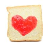 Driftstopphjärta av bröd Arkivfoton