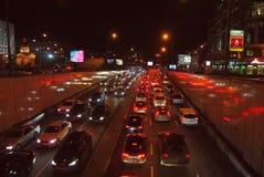 driftstoppmoscow trafik Arkivbild