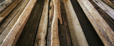 Driftwood background texture, panorama - wood and timber in dimi Royalty Free Stock Photography