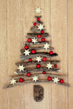 Driftwood Christmas Tree stock images