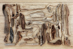 Driftwood Collage Stock Image