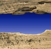 Driftwood Divider On Blue Sky Stock Photos