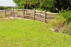 Driftwood fence Royalty Free Stock Photo