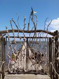 The driftwood gates Stock Photography