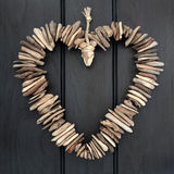 Driftwood Heart Stock Images