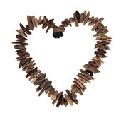 Driftwood Love Heart Stock Images