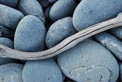 driftwoodpebbles arkivbilder