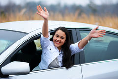 Drijf auto royalty-vrije stock afbeeldingen