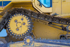 Drijf een bulldozer Stock Afbeeldingen