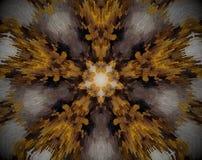 drijft de 5 opgeruimde stersamenvatting mandala uit royalty-vrije illustratie