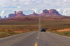 Drijvend aan het stammenpark van Navajo van de Monumentenvallei, Arizona, de V.S. stock afbeeldingen