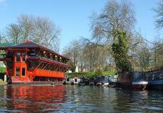 Drijvend Chinees Restaurant, Camden, Londen Stock Fotografie
