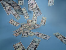 Drijvend contant geld Royalty-vrije Stock Foto