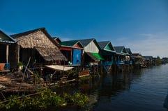 Drijvend dorp Stock Foto