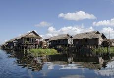Drijvend dorp Royalty-vrije Stock Foto