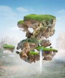 Drijvend eiland Stock Afbeelding