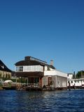 Drijvend huis - Kopenhagen Stock Fotografie