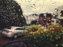 drijvend onderaan Lombard Straat op een regenachtige dag U in van San Francisco, Californië S A Royalty-vrije Stock Foto's
