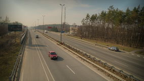 Drijvend op de weg, tijdoverlappingen stock video