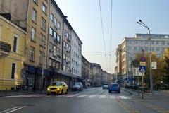 Drijvend rond de stad van Sofia, de hoofdstad van Bulgarije royalty-vrije stock foto
