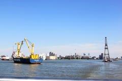 Drijvend sheerleg en verschepend, Rotterdam, Holland Royalty-vrije Stock Foto