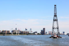 Drijvend sheerleg, Rotterdam, Nederland Royalty-vrije Stock Fotografie