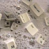 Drijvend toetsenbord Royalty-vrije Stock Foto