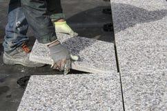 Drijvende betontegels Royalty-vrije Stock Foto