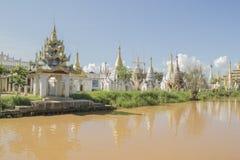 Drijvende dorpen van Inle-Meer Birma, Myanmar Stock Afbeelding