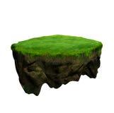 Drijvende eiland 3d model en digitale illustratie Stock Afbeeldingen