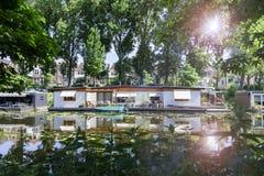 Drijvende huizen royalty-vrije stock afbeelding