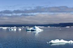 Drijvende Ijsbergen, Groenland stock afbeeldingen