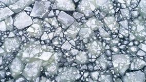 Drijvende ijsijsschollen op water, satellietbeeld royalty-vrije stock afbeeldingen