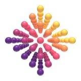 Drijvende kleurrijke kinderachtige orbs Stock Afbeelding