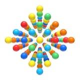 Drijvende kleurrijke kinderachtige orbs Stock Afbeeldingen