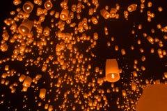 Drijvende lantaarns Royalty-vrije Stock Foto's
