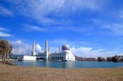 Drijvende Moskee in Kota Kinabalu-stad in Maleisië royalty-vrije stock fotografie