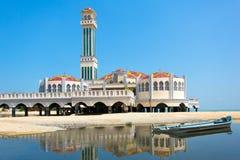 Drijvende moskee van Tanjung Bungah in Penang Stock Afbeelding