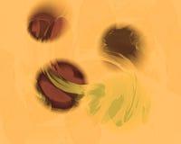 Drijvende Orbs in Lichte Olive Green Violet en Kastanjebruin Vector Illustratie