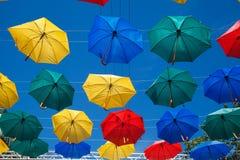 Drijvende paraplu's Stock Foto