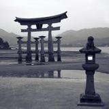 Drijvende poort in Miyajima Stock Foto