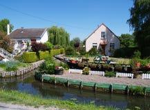 ` Drijvende tuinen ` in Amiens, Frankrijk Stock Fotografie
