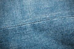 Dril de algodón azul Fotografía de archivo libre de regalías