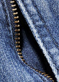 Dril de algodón con la cremallera Imagen de archivo