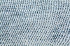 Dril de algodón, material de la mezclilla azul Imagen de archivo libre de regalías