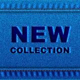 Dril de algodón moderno azul Texture2 de la moda stock de ilustración
